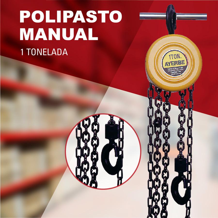 Polipasto manual 1 T